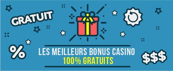 Les meilleurs bonus casinos gratuits banner